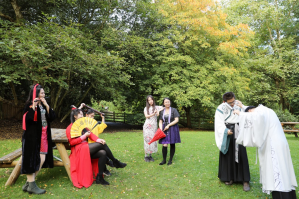 The Hairstyle & Lifestyle Society at the Botanical garden costume tour