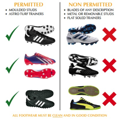 footwear-requirements 3G pitches